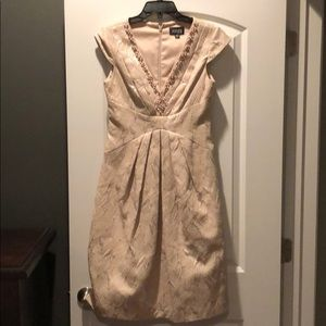 Adriana Papell champagne cocktail dress